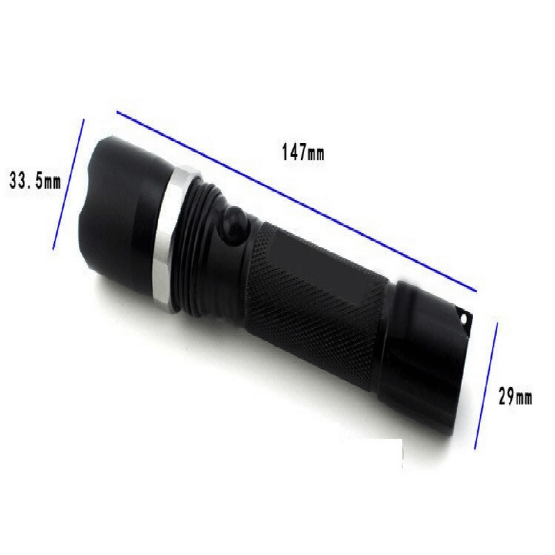 Rechargeable Bicycle Mechanical Rotating Zoom LED Flashlight