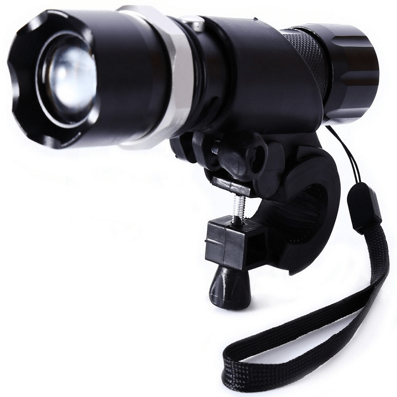 rechargeable-bicycle-mechanical-rotating-zoom-LED-flashlight