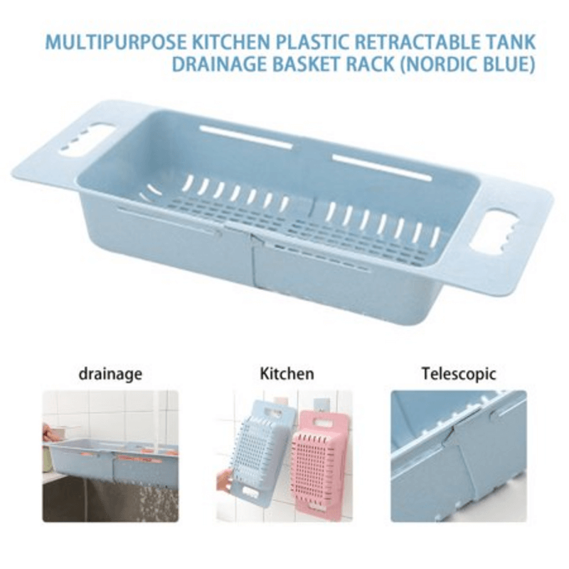 Adjustable length Plastic Sink Drain Basket