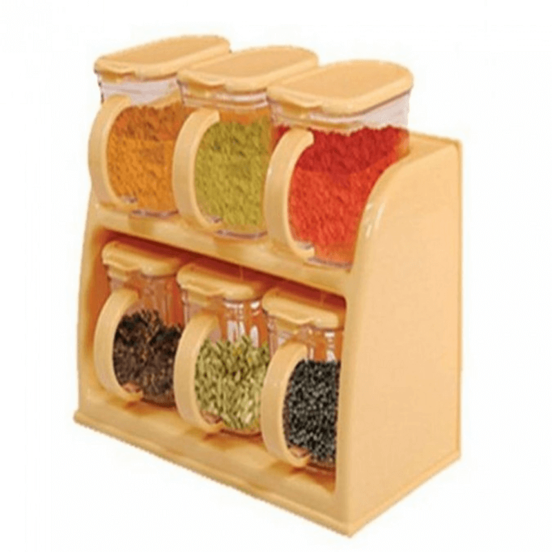 6 Piece Masala Pack Spice Rack