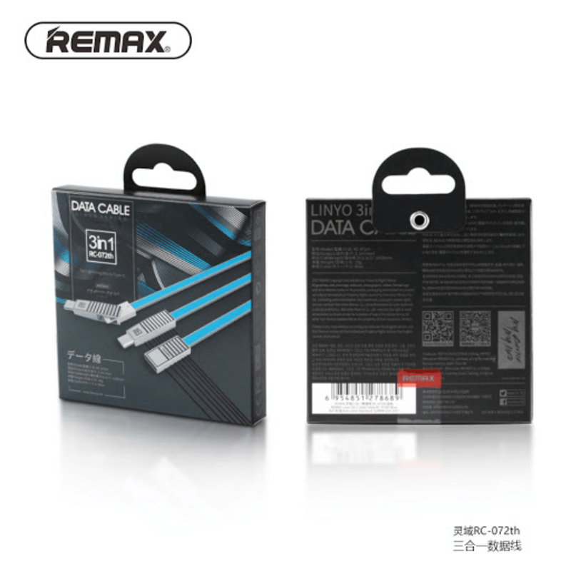 remax-3-in-1-USB-data-and-charger-cable-RC-072th-USB-charging-ca