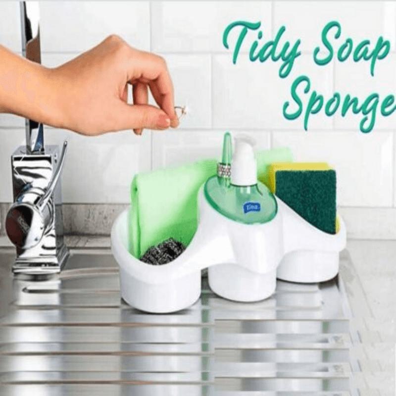 Soap Dispensing Sponge Holder