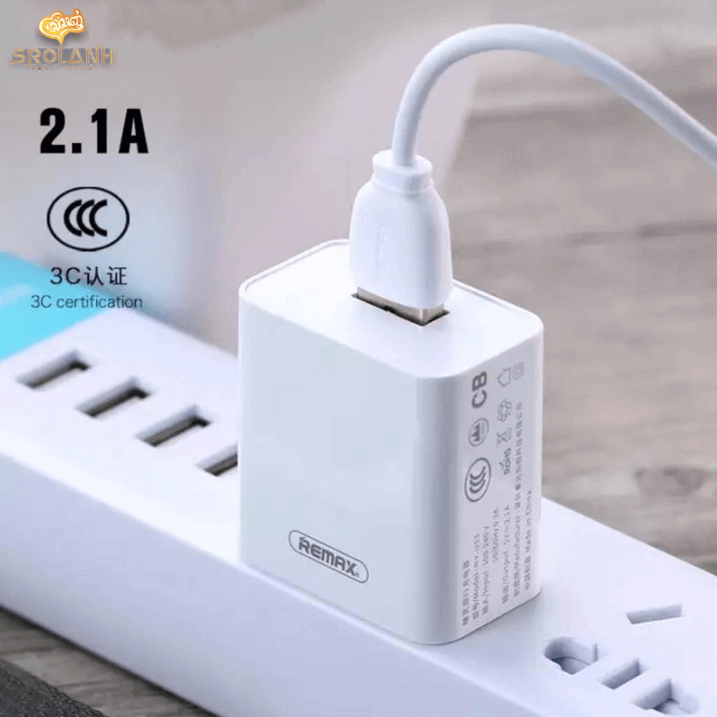 Single USB Travel Charger with Micro-USB Cable RP-U112