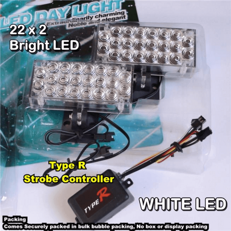 Type R LED Day Light Car Day Driving Light Head Fog Lamp
