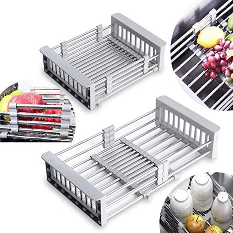 Expandable Dish Drying Rack Over Sink