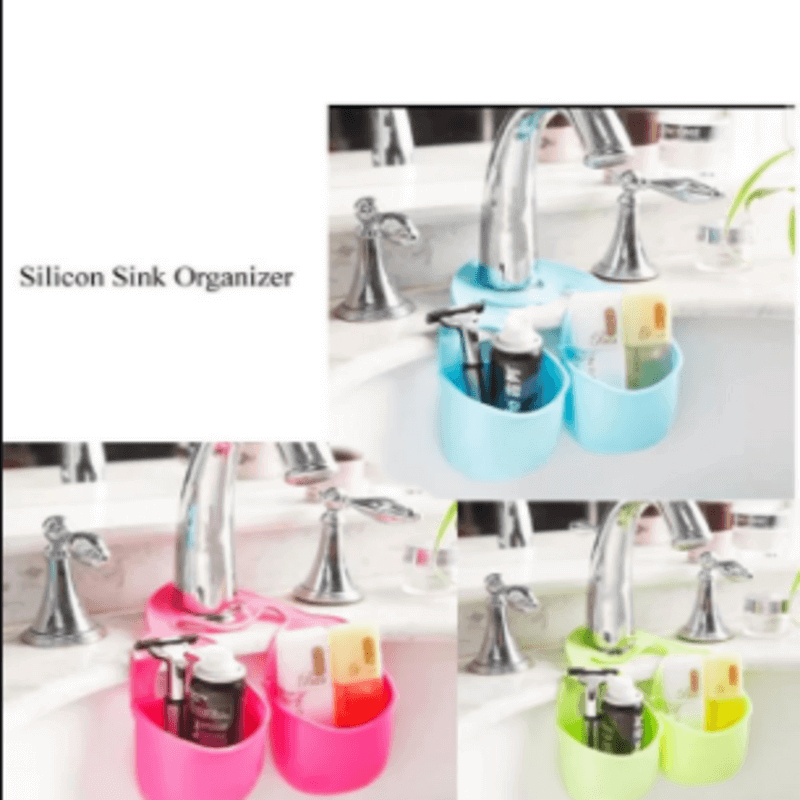 Stylish Silicon Sink Organizer Double Cup