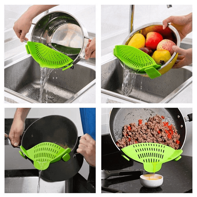 Kitchen Gizmo Snap Strain Strainer Clip