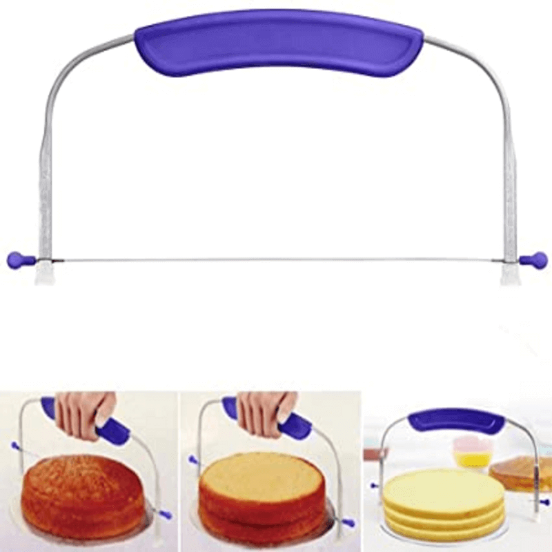 Adjustable Wire Cake Layer Slicer Stainless Steel