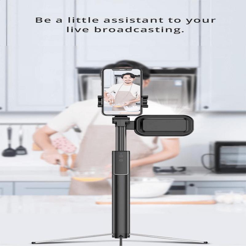 Portable Metal Selfie Stick Live Support Bluetooth Remote Control