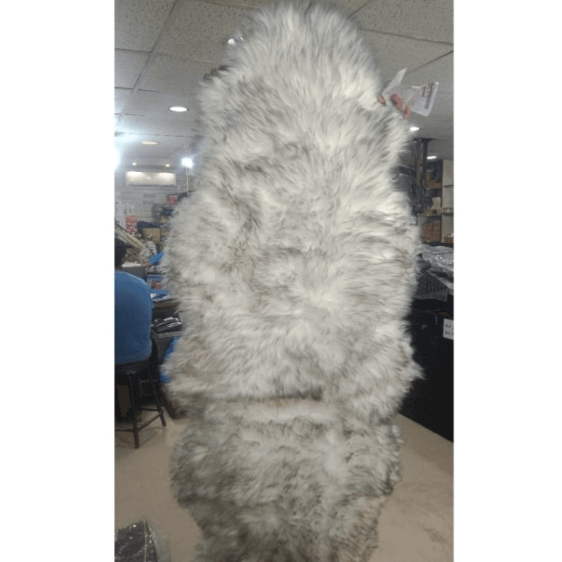 Genuine Leather Real Fur Car Seat Cover