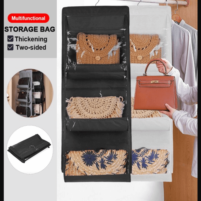 6 Pockets Multi-Functional Hanging Purse Organizer