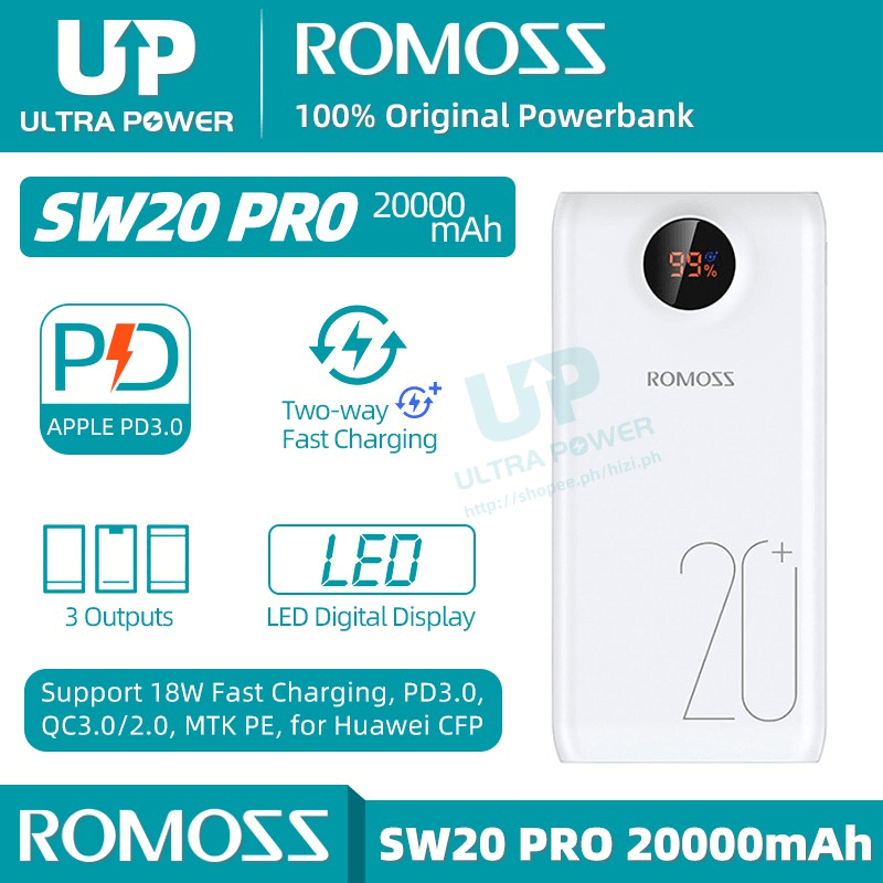 ROMOSS SW20 PRO Quick Charge 20000mAh Fast Charger