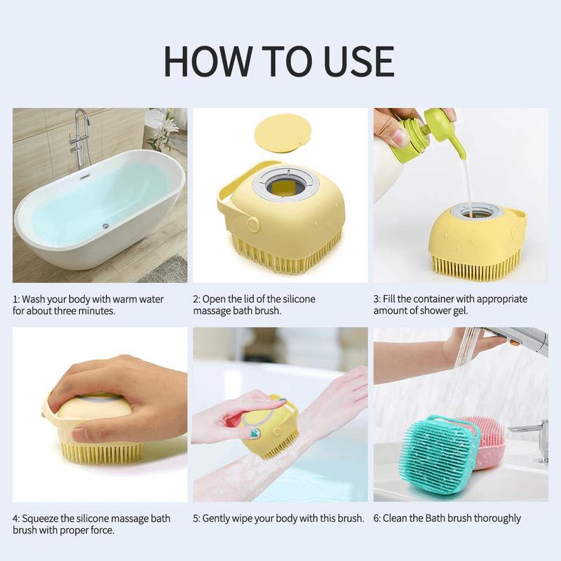 silicone-massage-bath-brush-liquid-soap-dispenser