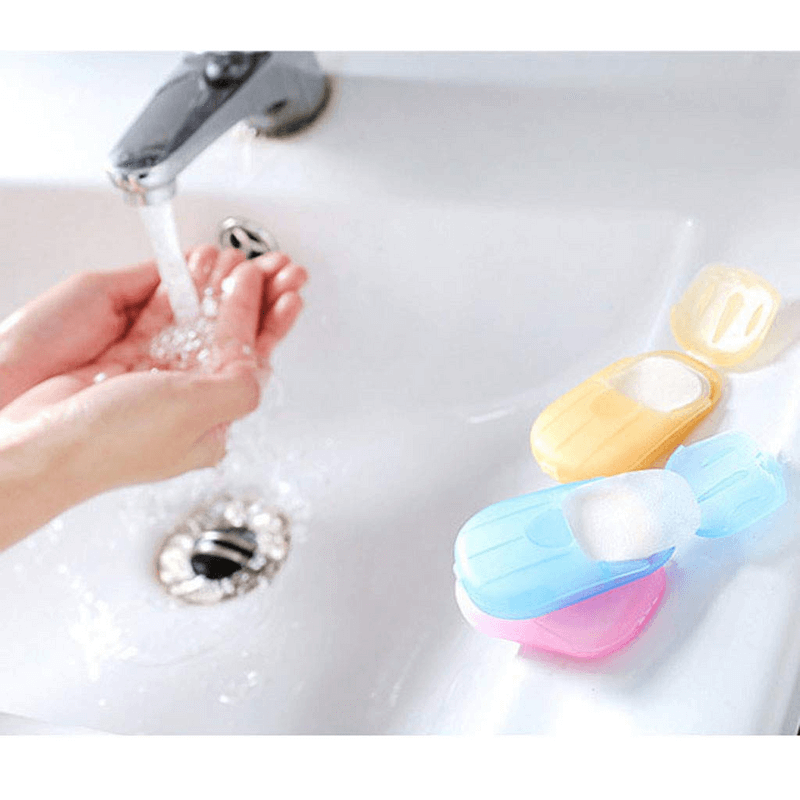 Portable Disposable Hand Washing Soap Paper Holder