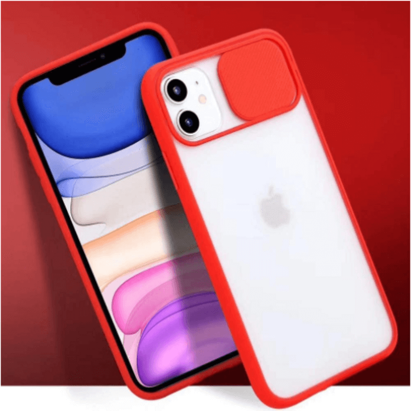 New Thin Slide Camera Lens Protection Phone Case For iPhone