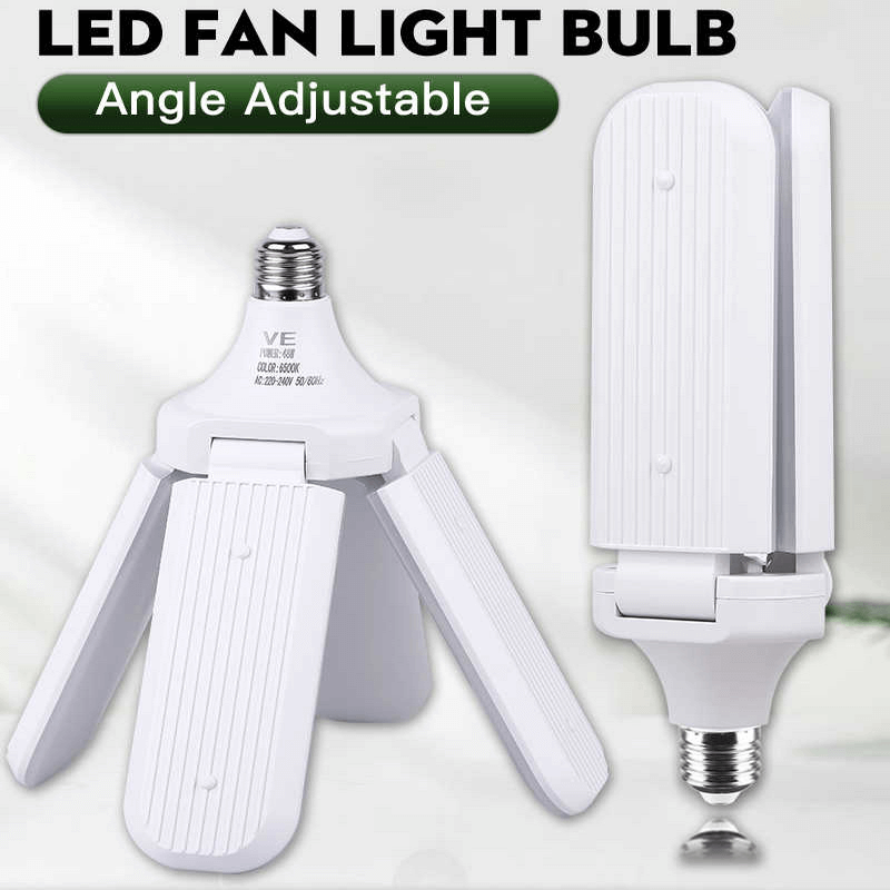 Foldable Fan Blade LED Garage Lights
