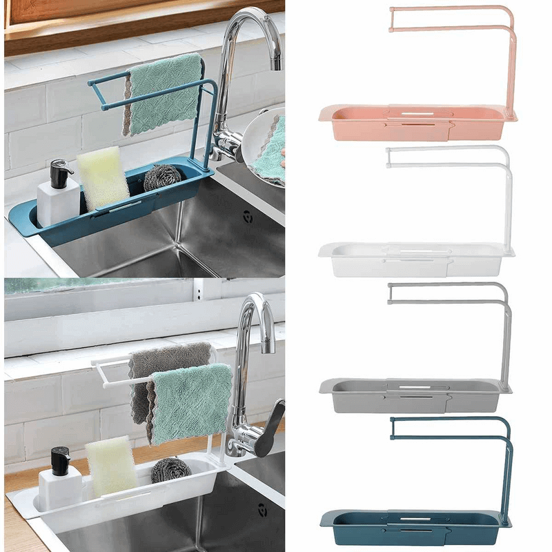 Sink Holder Expandable Storage Drain Basket