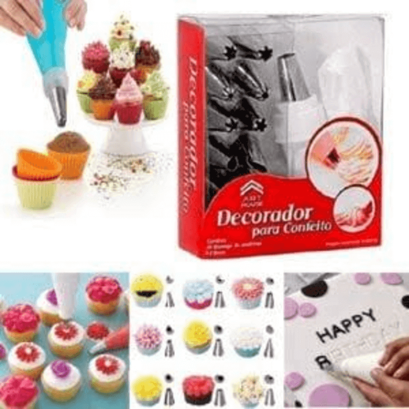 Cake Decorating Set with Steel Nozzles