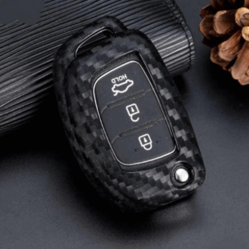 Carbon Car Key Cover Hyundai Tucson