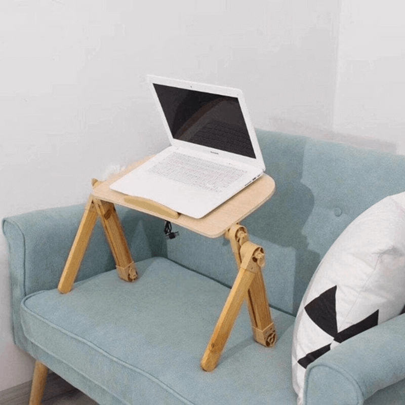 Laptop Table with Adjustable Stand and Cooling Pad