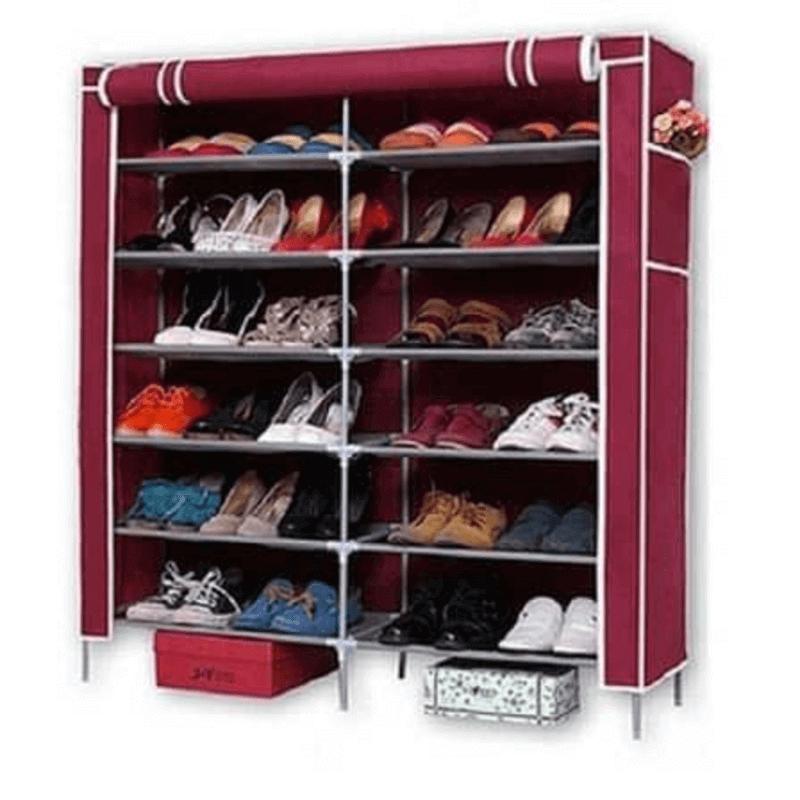 2-door-dustproof-cabinet-shoe-shelf-tower