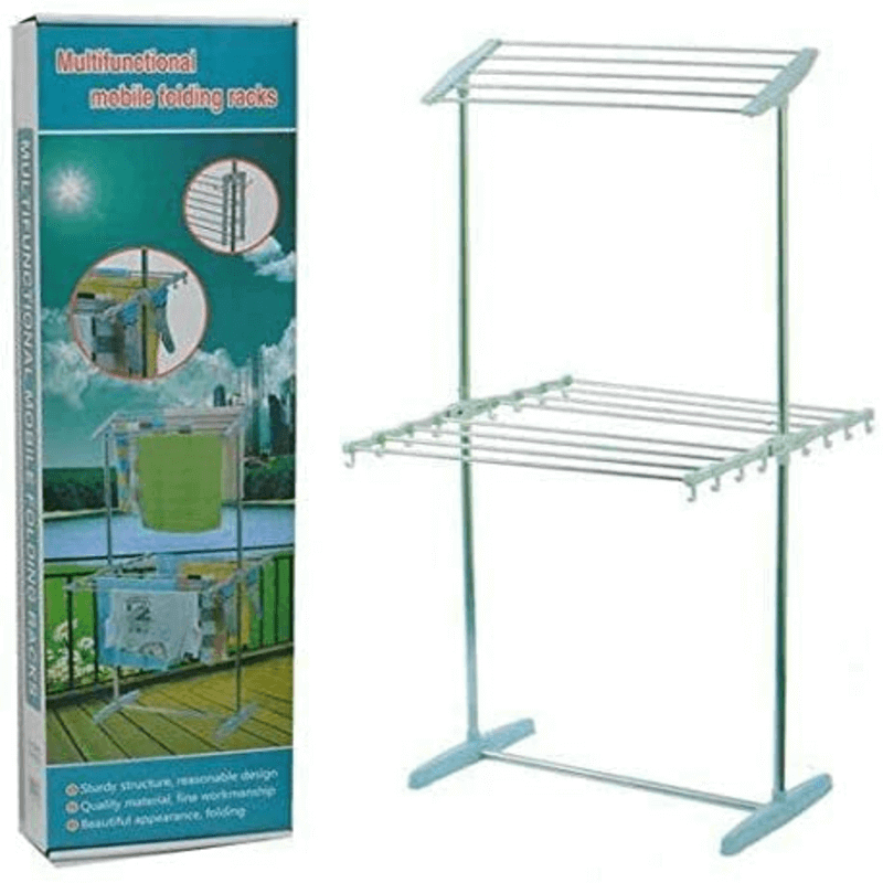 multifunctional-mobile-folding-cloth-dryer-rack-stand