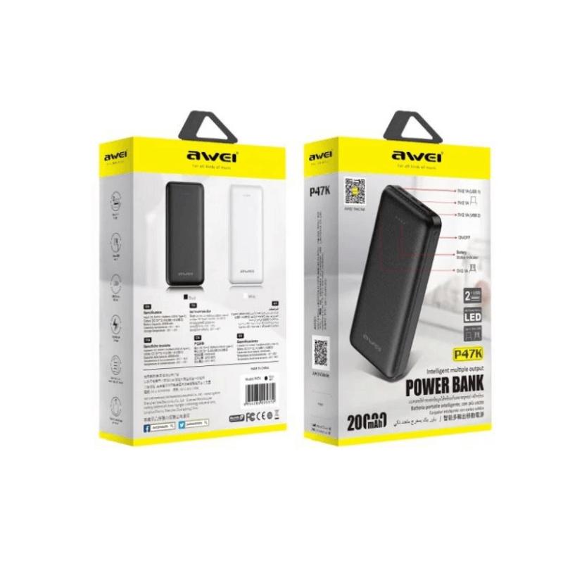 20000mAh Power Bank Dual USB AWEI P47K