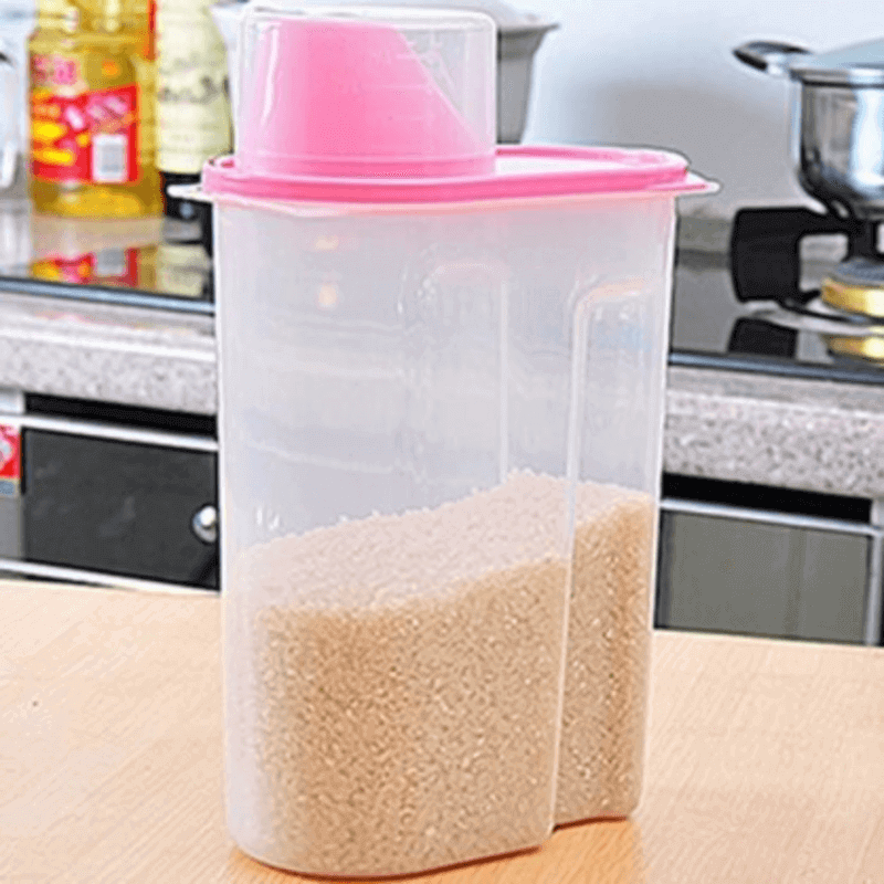 Large Food Storage Container with Cup- 1L