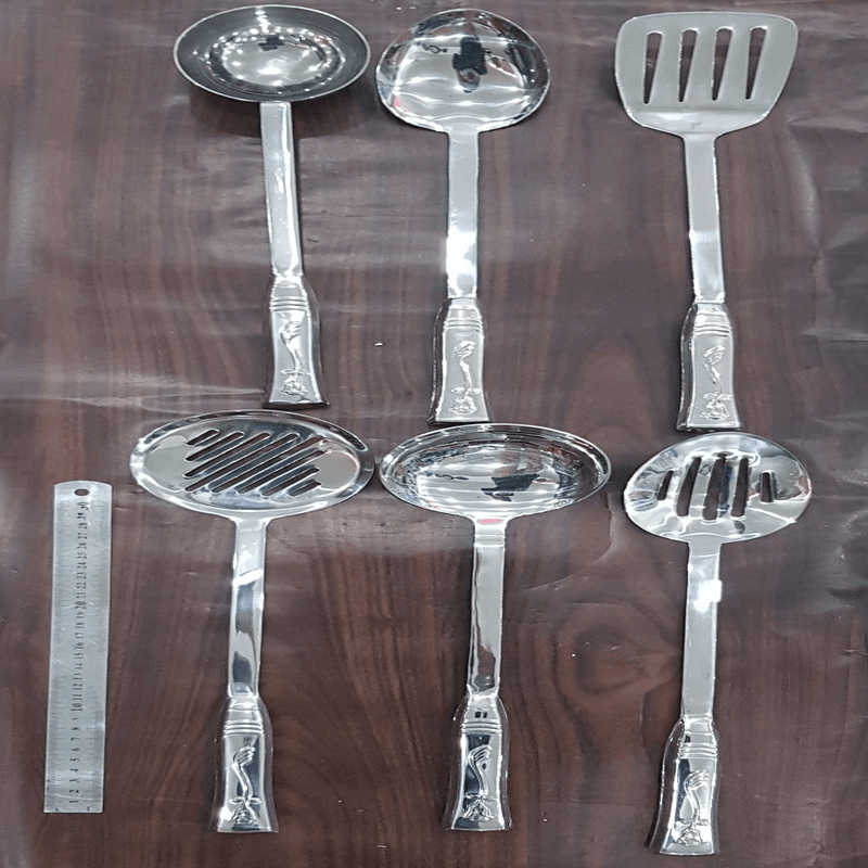 Stainless Steel Cutlery Set With Holder Stand
