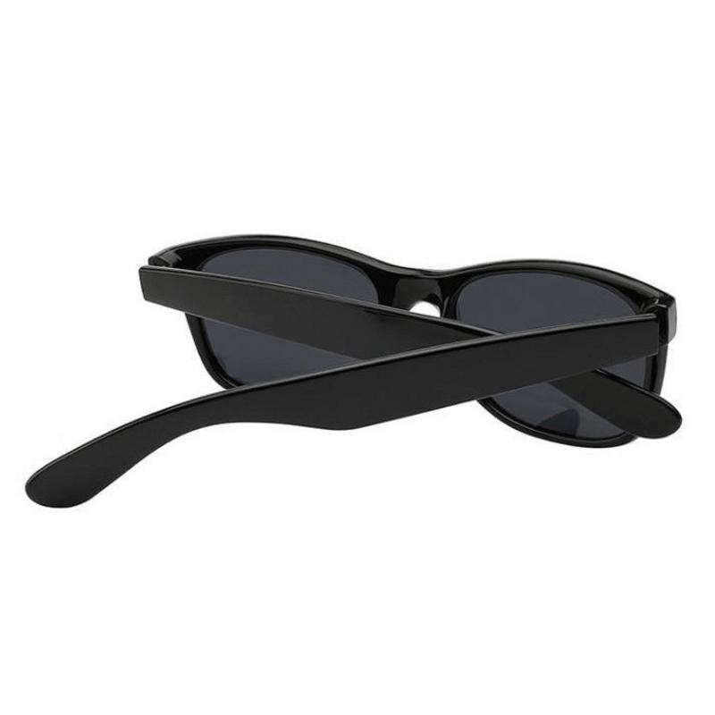Black Unisex Wayfarer Fashion Sunglasses