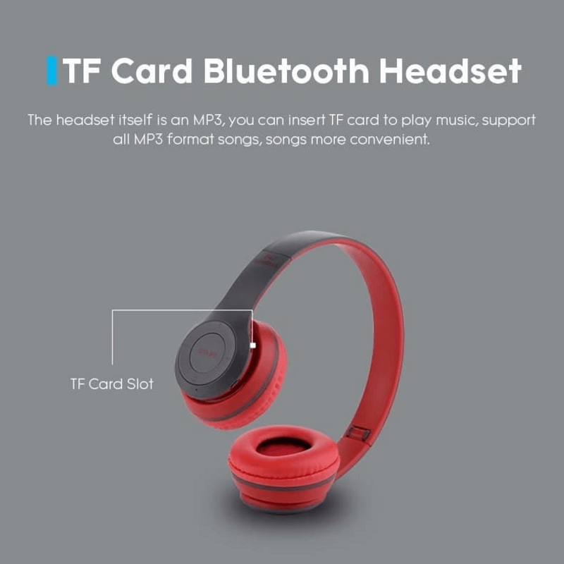 Bluetooth Stereo Wireless Headset Subwoofer Headphones