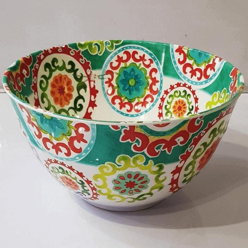 melamine-tableware-anti-knock-big-bowl-floral