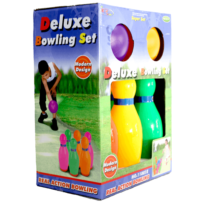 Deluxe Bowling Set Toy For Kids 6 Pins & 2 Balls