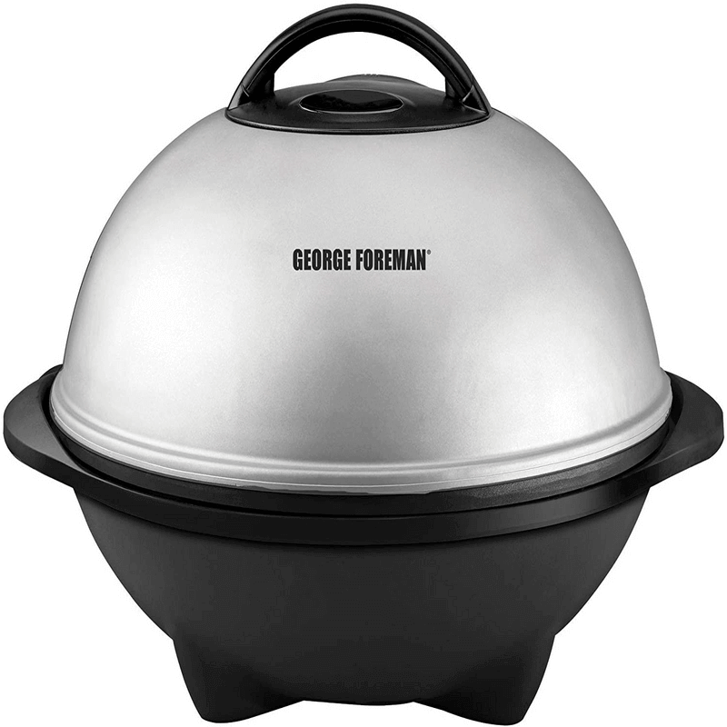 George Foreman Indoor/Outdoor Electric Metal Grill With Lid