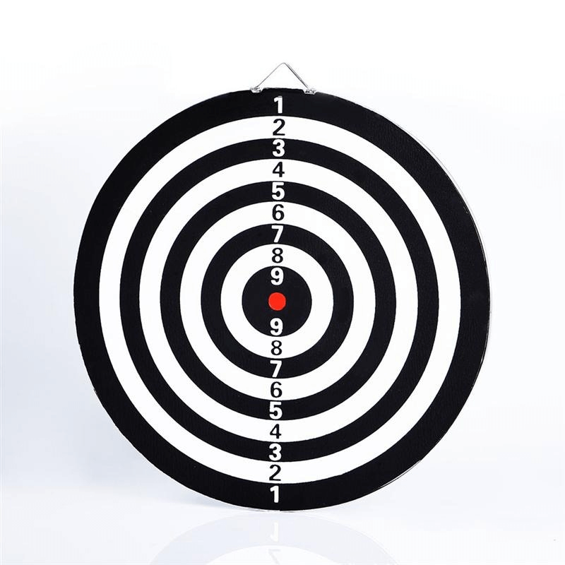 6 Darts & Darts Board 18 inches Double Sided Bullseye Target Game