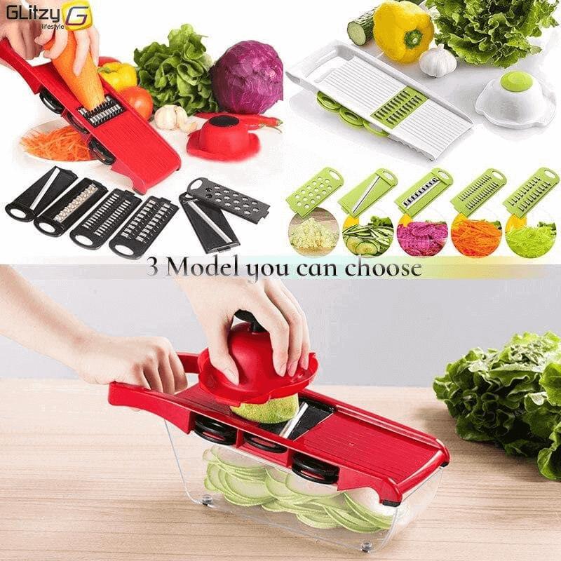 Vegetable Cutter Slicer Grater Chopper Six Interchangeable Blades