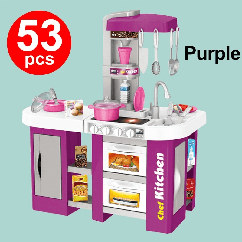 Large Size Kitchen Play Set Pretend Play Toy Cooking Set