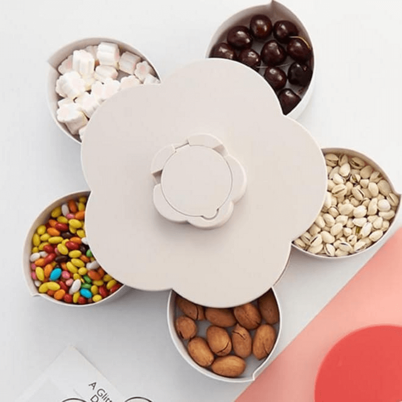 flower-rotatable-container-case-food-candy-holder