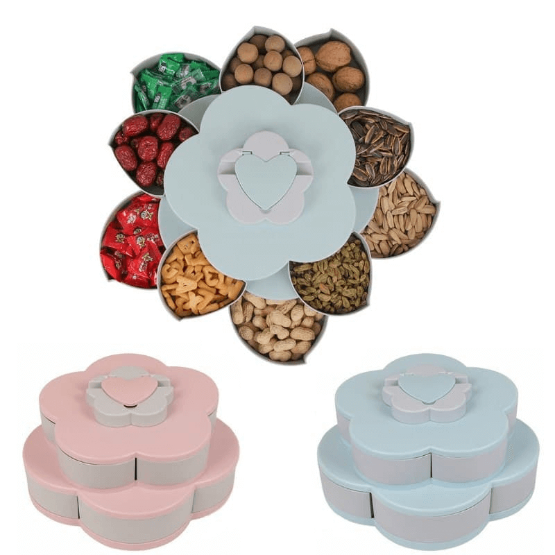 Double-Layer Flower Snacks container with Mobile Holder