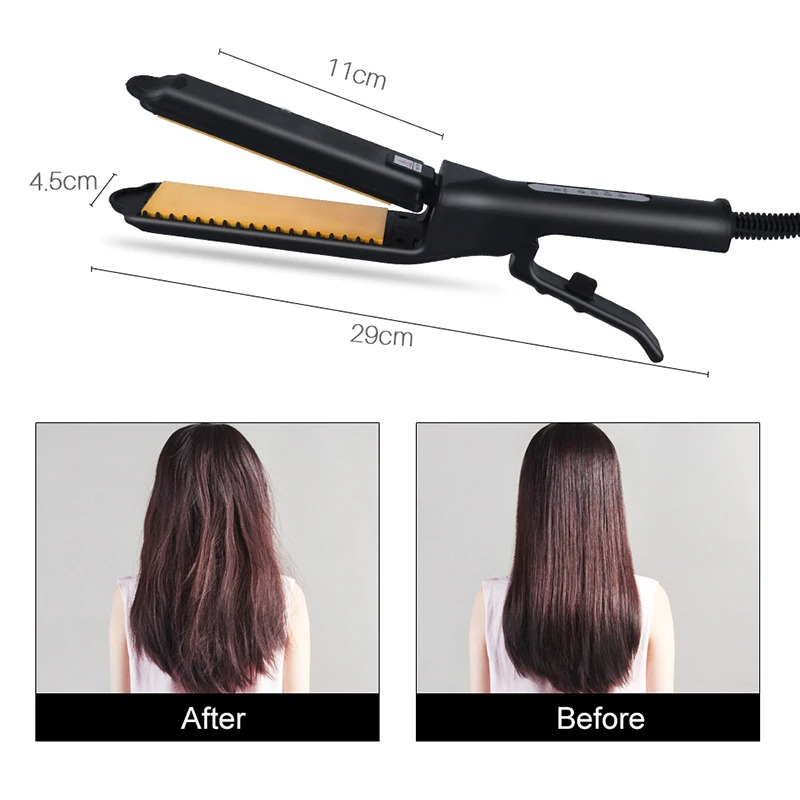 Professional Electric Hair Straightener Hair Flat Iron Ceramic Heat Curler