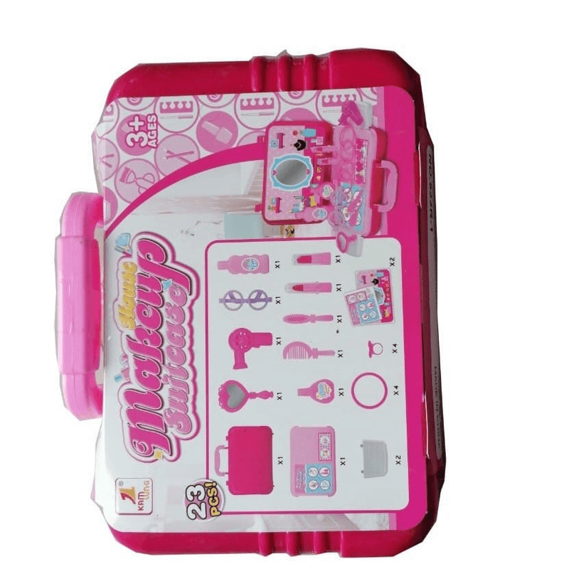 Pretend Play Makeup Tool Box Simulation Cosmetic Case