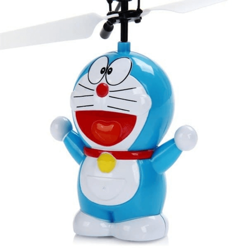 Doraemon Aircraft Infrared Sensors Airplane Toy