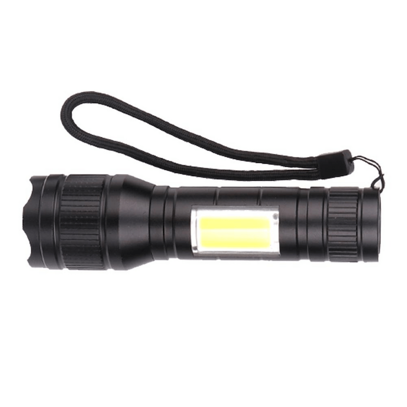 Military LED Zoom-able Mini Flashlight Multicolor
