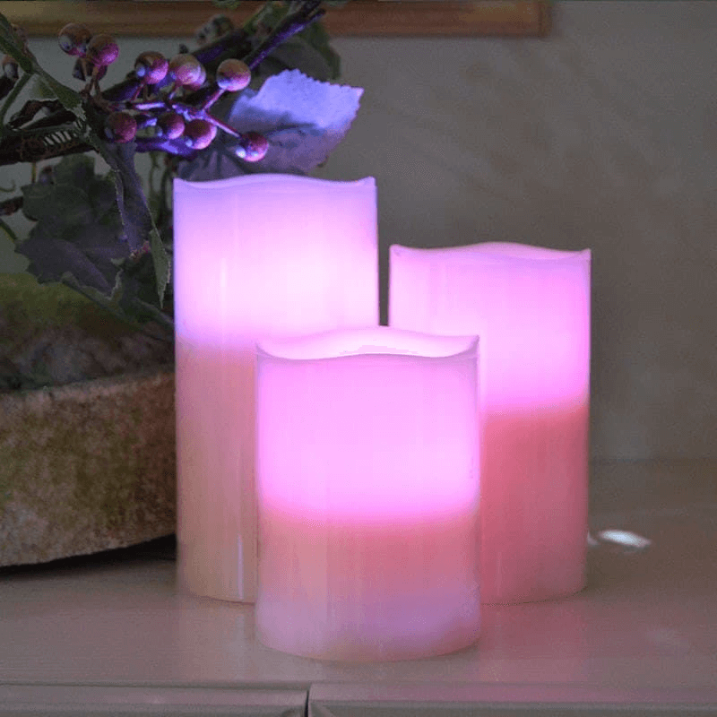 Simulation LED Candles Color Changing