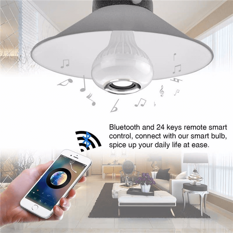 2 in 1 RGB LED Light and Wireless Speaker 12W