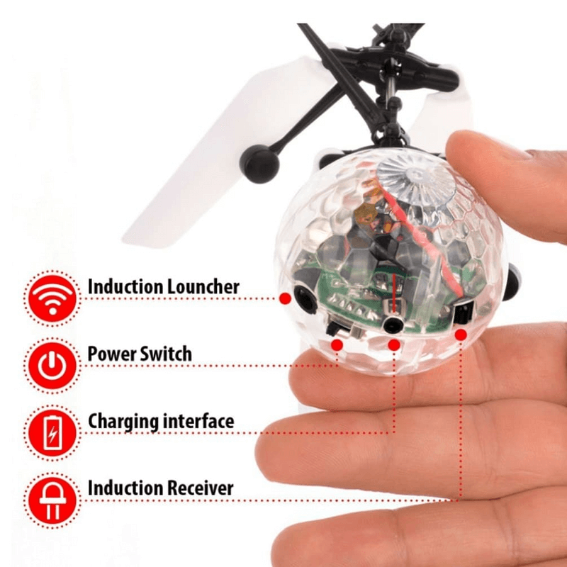 Flying Ball Helicopter Toy Infrared Induction