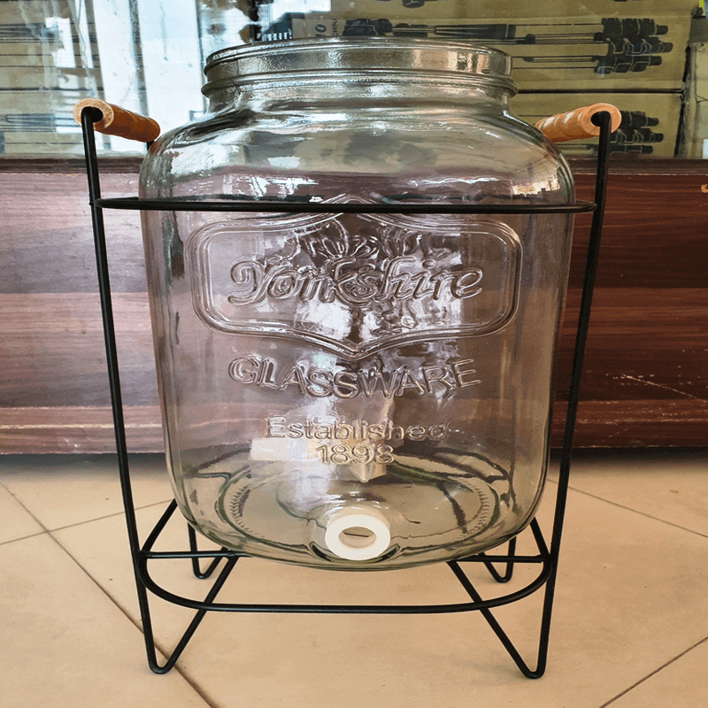 Glass Dispenser with Stand and Leak Free system