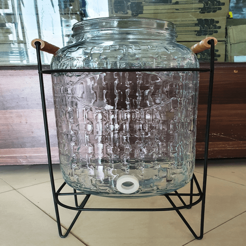 glass-dispenser-with-stand-and-leak-free-system