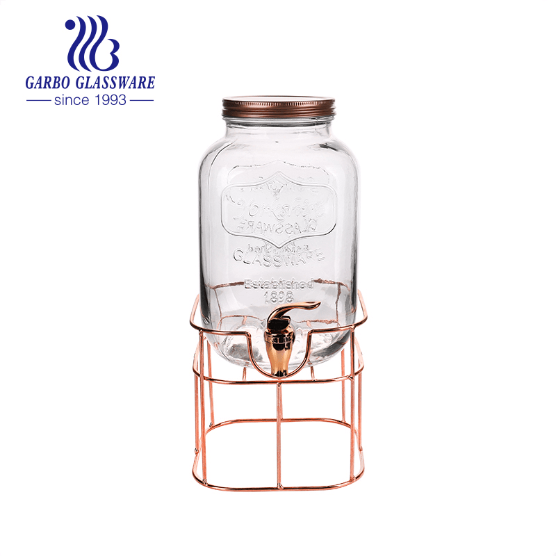 8L Glass Dispenser With Stand & Leak Free