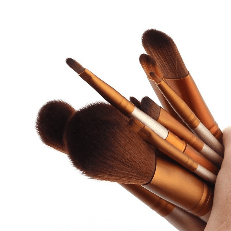 Aluminum Box Makeup Brushes Set